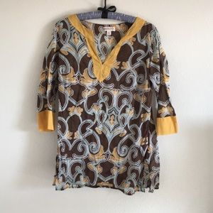 Ladies tunic by Merona sz M and multi colored